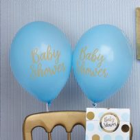 Pattern Works Blue Baby Shower Balloons (8)